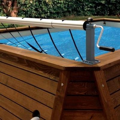 Nydel cnappe ronde 170cm vali noisette for Enrouleur pour piscine ronde