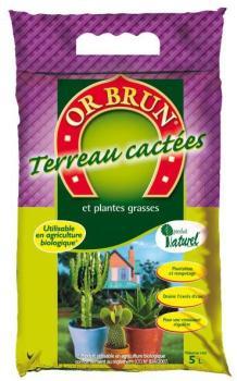 OR BRUN TERREAU CACTEES 5L