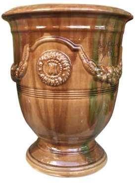 Vase Anduze flammé en terre