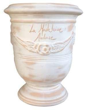 Vase Anduze mini cérusé en