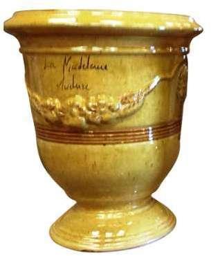 Vase Anduze tradition jaune