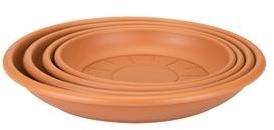 Soucoupe ronde 14 cm terre