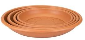 Soucoupe ronde 16 cm terre