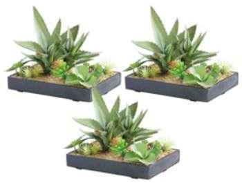 3 tableaux végétaux artificiels