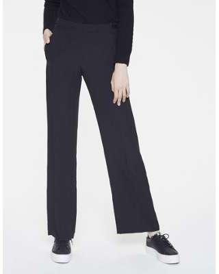 Pantalon large en crêpe envers