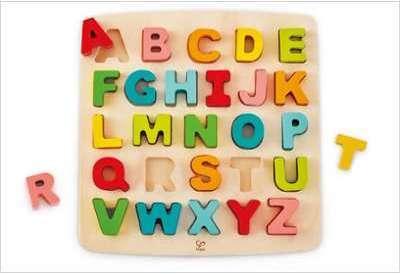 Puzzle lettres majuscule en