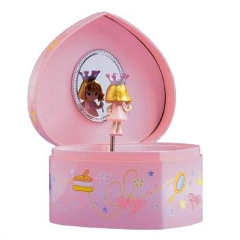 Boîte à bijoux musicale coeur