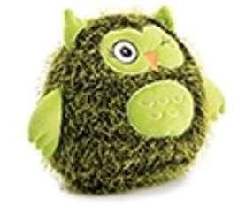 Hibou en peluche vert avec