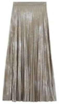 Jupe plissée lamée Femme