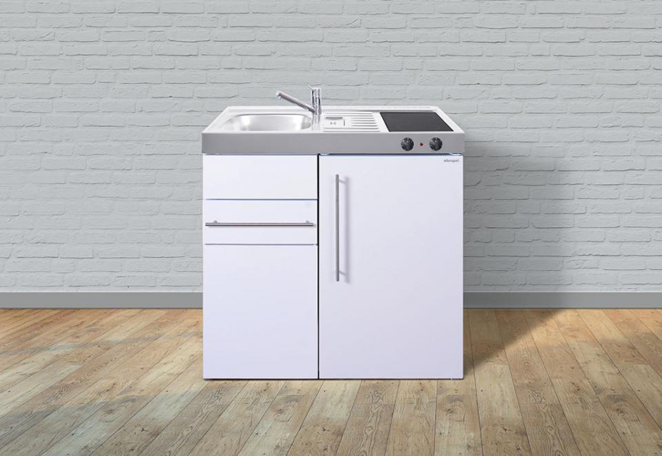 bloc cuisine evier frigo plaque