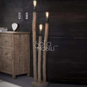 Lampadaire en bois massif