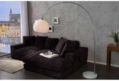 Lampadaire arc design blanc