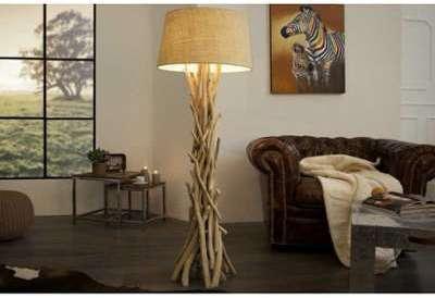 Lampadaire de 155 cm en bois