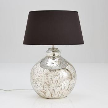 Pied de lampe en verre mercurisé
