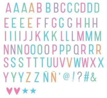 Set de 85 Lettres Pastel pour