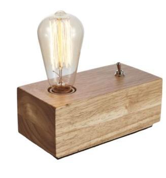 Lampe de chevet en bois -