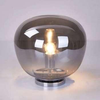 Lampe boule verre fumé vintage
