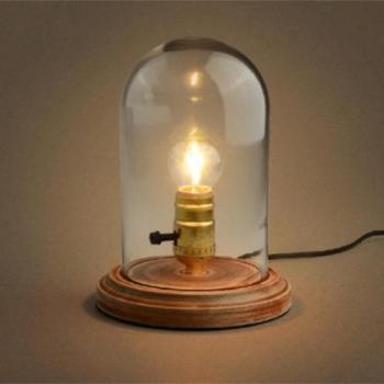 Lampe Cloche en Verre avec