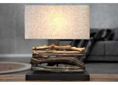 Lampe de 35cm en bois flotté