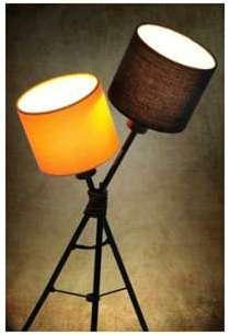 Lampe de 55cm à 2 abat-jour