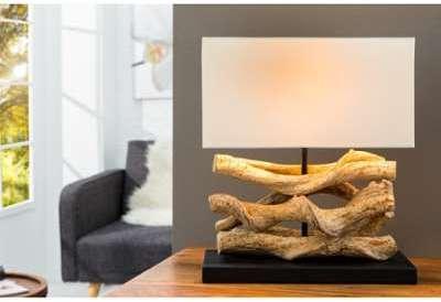 Lampe à poser 35 cm en bois