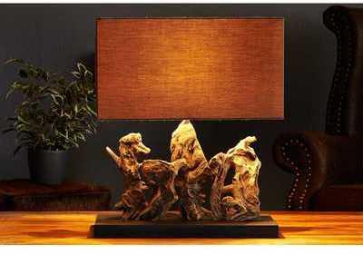 Lampe à poser de 40cm en bois