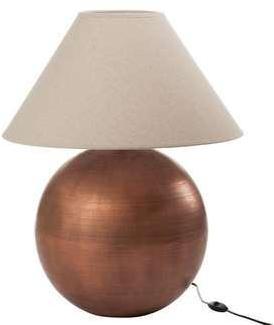 Lampe de chevet métal cuivré