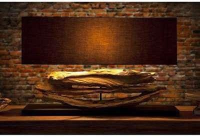 Lampe de 55 cm en bois flotté