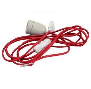 Cable rouge avec douille E27