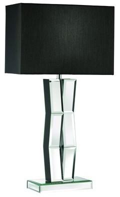 Lampe de table pied miroir