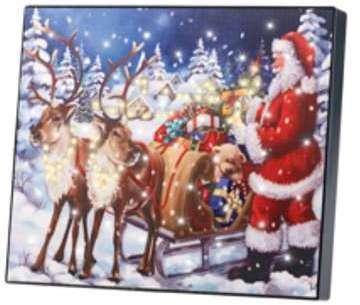 Tableau lumineux Père Noël