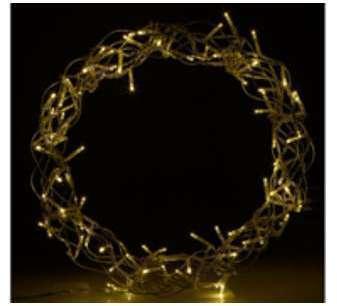 Couronne lumineuse décorative