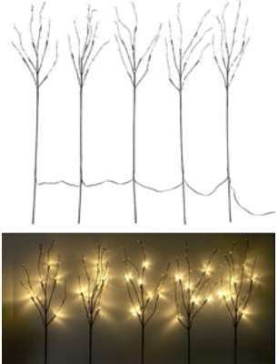 5 branches décoratives lumineuses