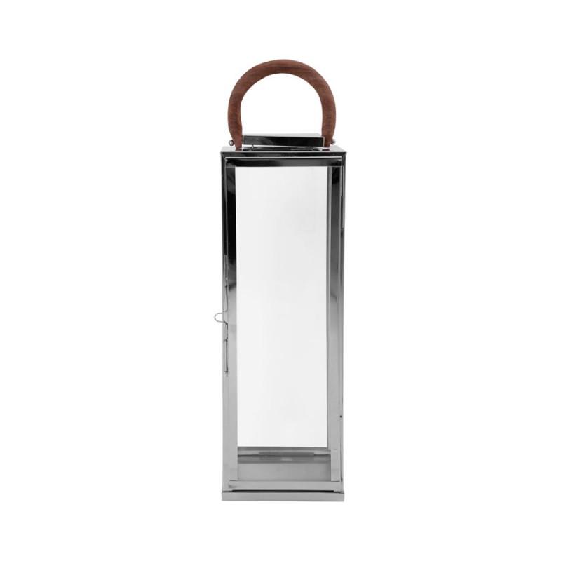 Lanterne ARGO argenté 22x22x50