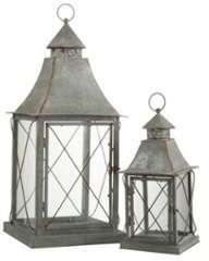 Set de 2 lanternes pointues