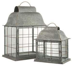 Set de 2 lanternes barres