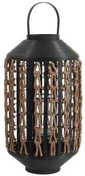Lanterne 72 cm exotique rotin