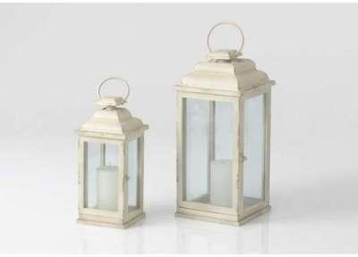 Set de 2 lanternes blanche