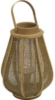 Lanterne bois de rotin Naturel