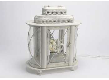Lanterne métal blanche Milla