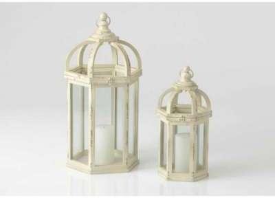 Set de 2 lanternes dôme en