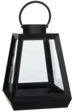 Lanterne en métal noir h40