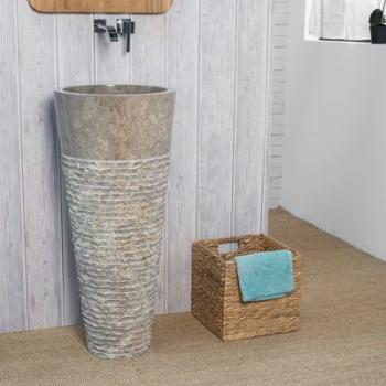 Vasque salle de bain sur pied