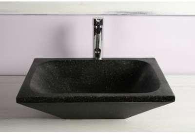 Vasque rectangulaire noire