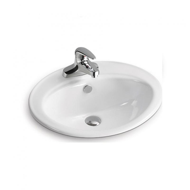 Vasque ovale encastrable céramique