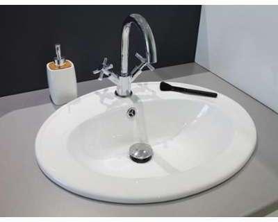 Vasque céramique ovale à encastrer