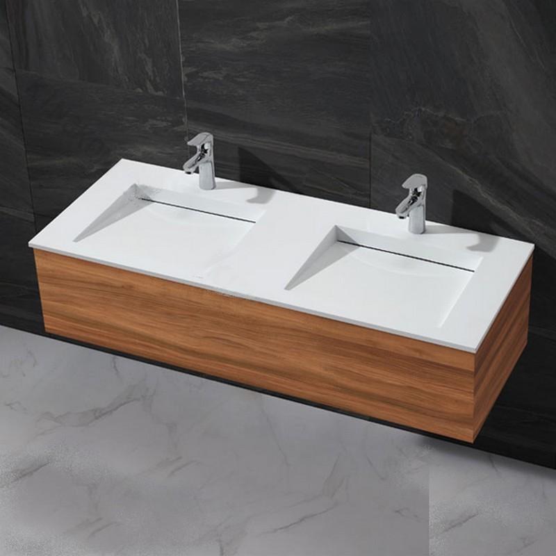 Lavabo double vasque à poser