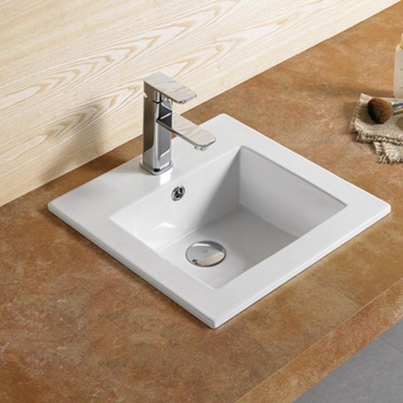 Vasque encastrable carrée