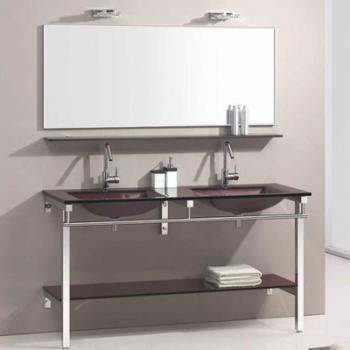 Meuble de salle de bain marron