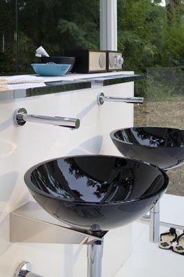 Vasque Design en verre à suspendre